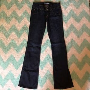 new HUDSON triangle flap pocket jeans boot cut 27